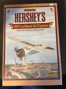 Ertl Hershey's 1929 Lockheed Air Express Airplane Die-cast Bank B311 1894-1994