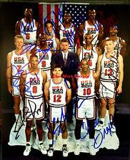 1992 USA DREAM TEAM Autographed 8x10 photo Jordan Magic Bird Barkley Reprint