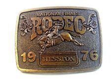 1976 National Finals Rodeo Belt Buckle Limited Edition by Hesston 12317
