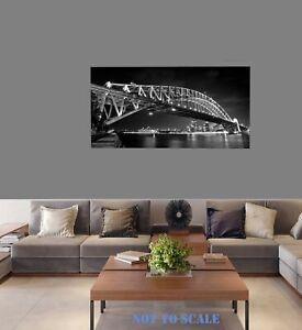 "Framed Sydney opera house art photo print canvas 32"" x 16""  Australia"