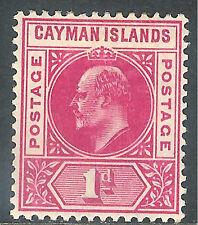 Cayman Islands 1905 carmine 1d mint SG9