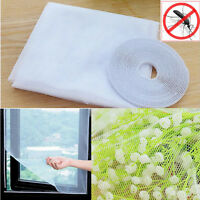 White Large Window Screen Mesh Net Insect Fly Bug Mosquito Moth Curtain New