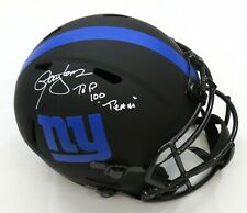 LAWRENCE TAYLOR SIGNED ECLIPSE GIANTS FULL SIZE HELMET w/NFL 100 INSC BECKETT