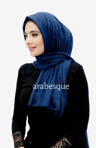 Viscose plain Long Jersey Scarves - available in a variety of colours