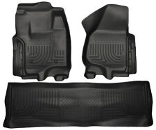 Husky Liners 2012.5 for Ford SD Crew Cab WeatherBeater Combo Black Floor Liners