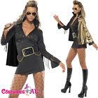 Ladies Black Elvis Presley Viva Las Vegas Costume 50s 1950s Rock Fancy Dress