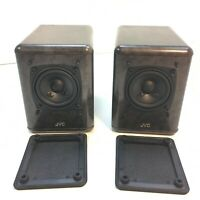 Pair of JVC SP-UX5000 Bookshelf Satellite Speakers Faux Marble Gray Grey
