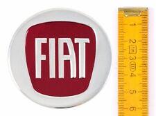 FIAT★ 4 Stück ★ ALUMINIUM Ø60mm ROT Aufkleber Emblem Felgenaufkleber Radkappen