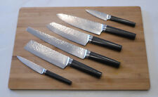 Großes Messerset - 6 Messer - aus Damaststahl - Hammerschlag Design !!!!!