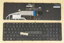 For HP PROBOOK 650 G2 655 G2 Keyboard Backlit with Pointer Frame Turkish Klavye