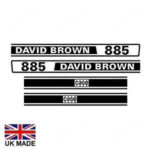 DECAL SET FOR DAVID BROWN 885 TRACTORS.