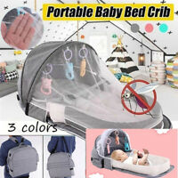 Portable Anti-mosquito Foldable Baby Crib Outdoor Travel Bed Breathable Cove um