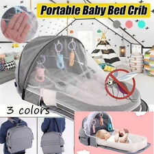 Portable Anti-mosquito Foldable Baby Crib Outdoor Travel Bed Breathable Cove FH