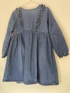 Girls Denim Dress Age 3-4 Years