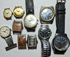 Job lot of vintage working mechanical watches,Seiko 66,Accurist,Timex military