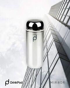 Grunwerg Drink Pod Vacuum Flask 200ml Metallic Mirror Double Wall LeakProof