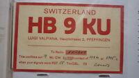 OLD VINTAGE QSL HAM RADIO CARD POSTCARD, PFEFFINGEN SWEDEN 1961