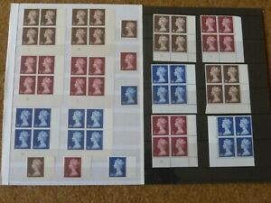 Excellent Collection GB High Value Pre Decimal Machins UM (MNH) inc blocks