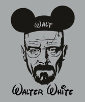 Walter White Disney shirt Breaking Bad series Walt parody Mickey Mouse t-shirt