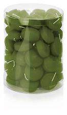 50x Schwimmkerzen Farbe Olive Grün Ø48mm RAL Qualität Kerzen Wiedemann GmbH