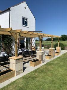 Bespoke made to order timber wooden garden gazebos pergolas and lean-to