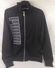 Puma Vintage 90s Hoodie Track Top Size Large L Black Zip Up Top 80s Retro Sports