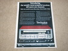 Technics SA-5760 Receiver Ad, 1 page, Article, Specs, Color