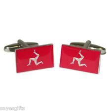 High Quality Isle of Man Flag Cufflinks