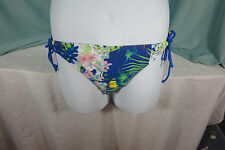 Ninety Six Degrees Swimsuit Bottom Bikini X Lg Multi color Blues Cord Ties NWT