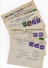 1933 REGNO IMPERIALE 4 BUSTE PER LA SVIZZERA CON 1,25L TUTTE DIVERSE A/6668