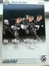 HL WAYNE GRETZKY 1991 92 UPPER DECK BIG CARD LA KINGS 91 92 UD LOS ANGELES