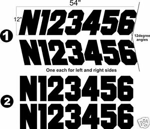 Airplane Aircraft Registration Numbers Vinyl Decal Jet