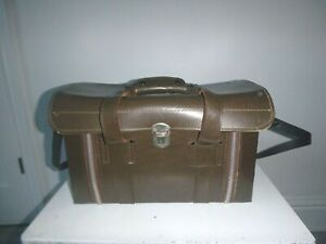 """Vintage 1970's Japan Camera Bag approx 15"""" x 9"""" x 7"""" with Contents"""