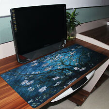 Van Gogh Blue Flowers Extended Gaming Mouse Pad Mice Mat Desk Mouse Mat Large XL