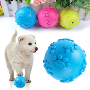 Indestructible Rubber Ball Chew Toys Squeaker Sound Squeaky for Aggressive Dogs