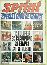 Sprint International  Spécial Tour de France n° 3 Juill-Août 1981 Carte Poster