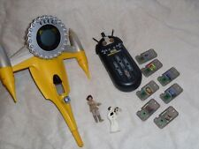 Star Wars Naboo starfighter Anakin & Princess Leah figures w' CommTech Toy LOT@@