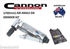 "1/4"" 6mm ANGLED 90 DEGREE ANGLE AIR DIE GRINDER TOOL & STONES KIT SET"