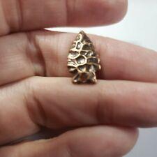 """ARROWHEAD"" scrapbook jewelry charm craft metal bronze Tone New"