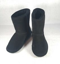 Brand New Bearpaw Black Suede Winter Boots Youth Size 1 - NWT