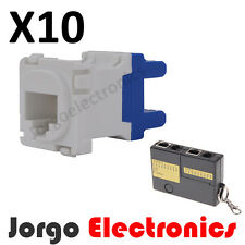 CLIPSAL COMPATIBLE CAT6 RJ45 Data Inserts Jacks X10 & Cable Tester