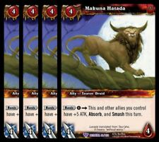 4x Makuna Hatada Betrayal of the Guardian Epic 99 World Warcraft WoW TCG