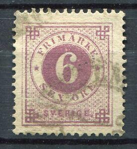 Weeda Sweden #44 - 6 ore w/ Posthorn on back - w/ CDS cancel - 1888 - CV $62.50