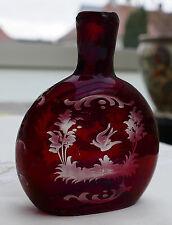 Böhmisches Schnupftabakglas - Bixl - Schnupftabakflasche Rubinglas !!! Nr. 99