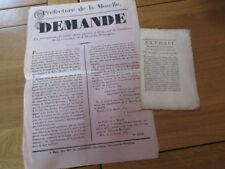 LORRAINE AFFICHETTE SIDERURGIE FORGE LAGRANVILLE VILLERS LA MONTAGNE 1839 MOSELL