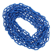 BISupply | Plastic Chain Links Crowd Control Halloween Chain Blue 25' Ft x 6mm