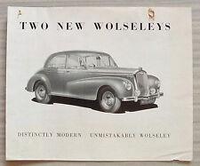 WOLSELEY FOUR FIFTY & SIX EIGHTY Car Sales Brochure 1949