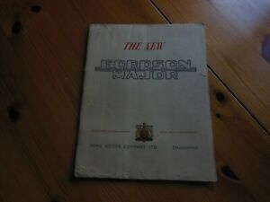 THE NEW FORDSON MAJOR BROCHURE BOOKLET - VERY EARLY COPY 1951