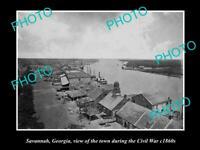 OLD POSTCARD SIZE PHOTO OF SAVANNAH GEORGIA VIEW OF TOWN IN CIVIL WAR c1860
