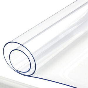 1mm Clear Tablecloth PVC Transparent Table Cover Protector Wipe Clean Waterproof